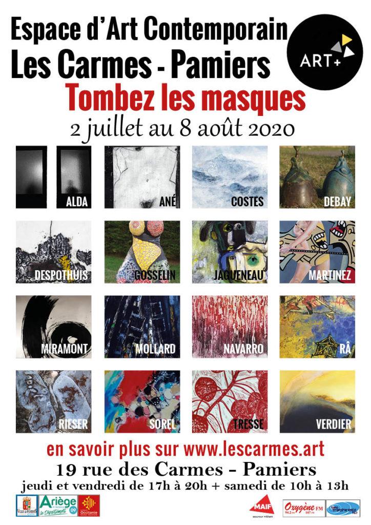 LES ARTISTES TOMBENT LES MASQUES ET DECONFINENT LEURS ŒUVRES @ Espace d'Art contemporain, Les Carmes